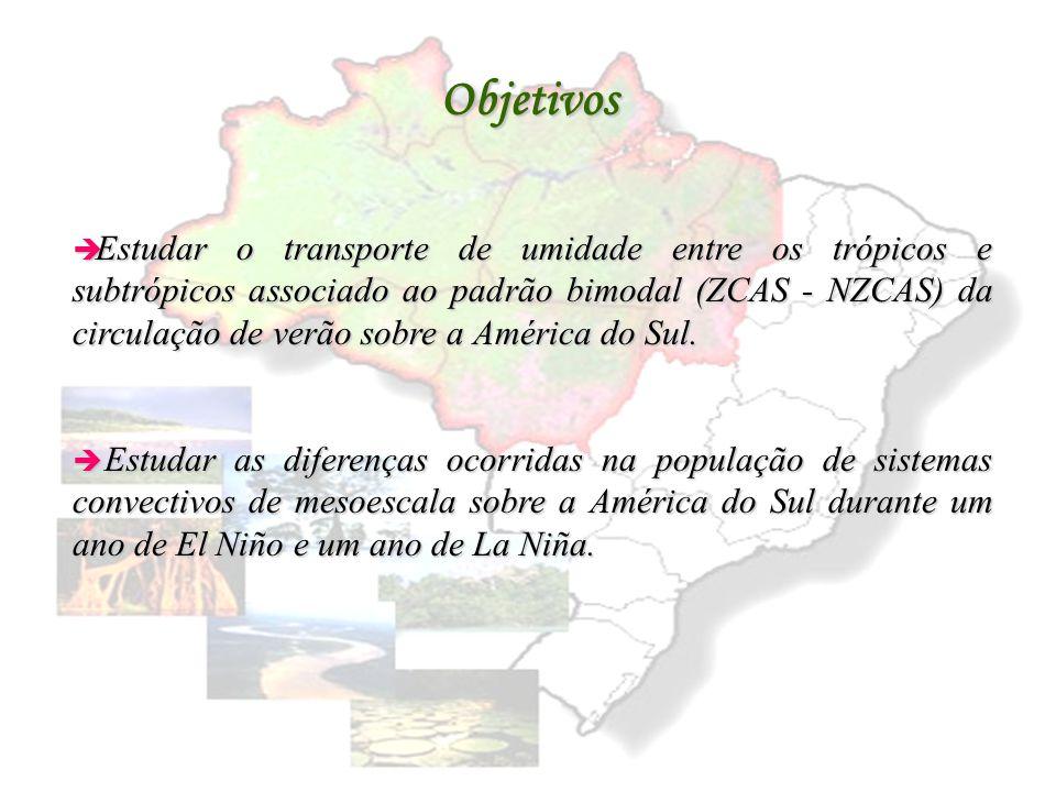 Relações entre os trópicos e subtrópicos associadas ao padrão bimodal da circulação de verão sobre a América do Sul Dirceu L. Herdies e Maria Assunção