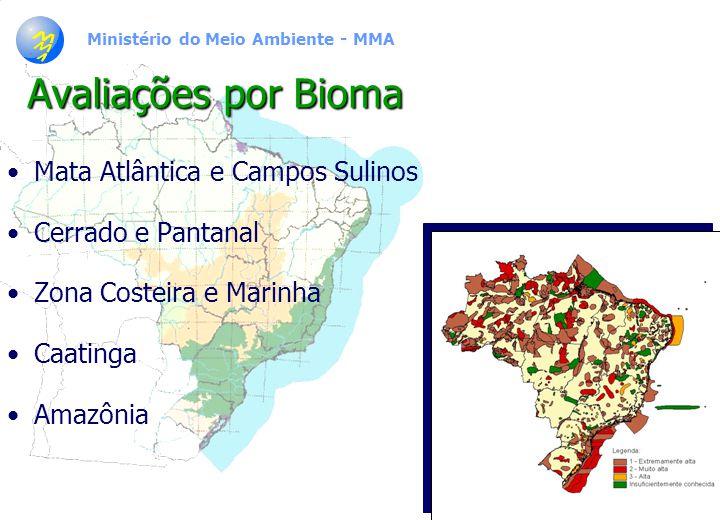 Ministério do Meio Ambiente - MMA Superfície representando o acervo total de espécimes de fanerógamas por estado Fonte: SHEPHERD, 2000