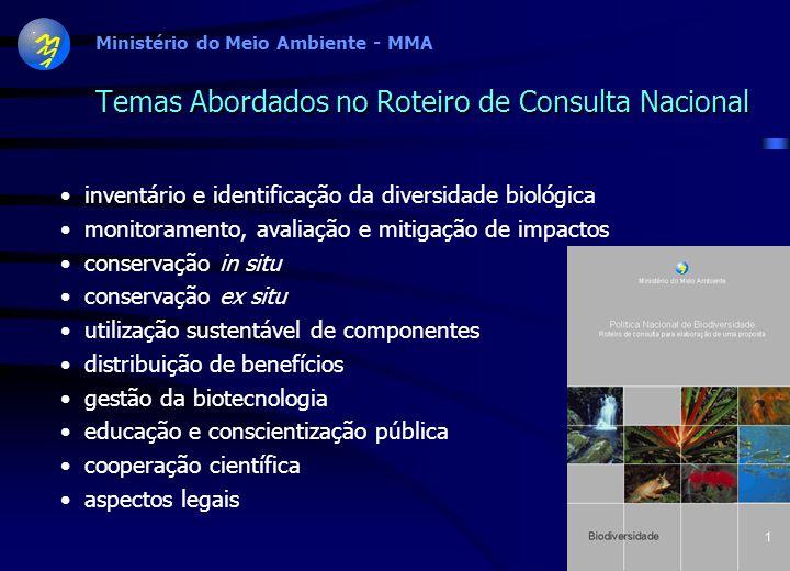 Ministério do Meio Ambiente - MMA ZONA COSTEIRA E MARINHA Produtos Mapa com áreas prioritárias Sumário Executivo Relatório Técnico