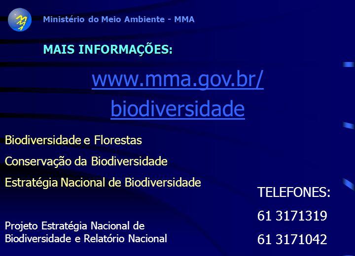 Ministério do Meio Ambiente - MMA Diretriz 4/3-Objetivos Específicos: 10. Promover mecanismos de coordenação das iniciativas governamentais e de apoio