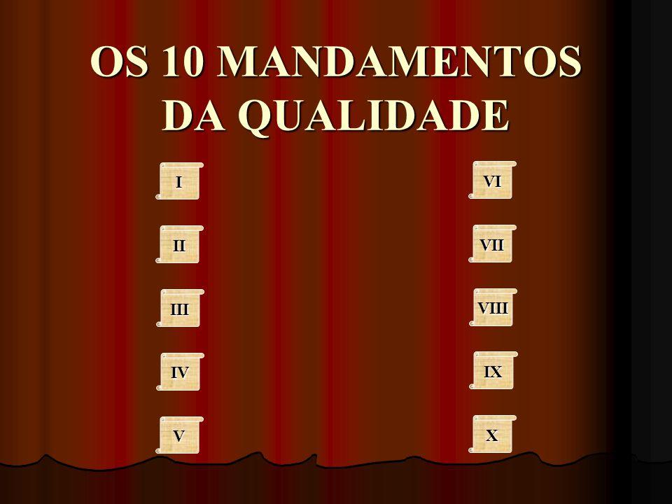 OS 10 MANDAMENTOS DA QUALIDADE IIII II III IV VVVV VI VII VIII IX XXXX