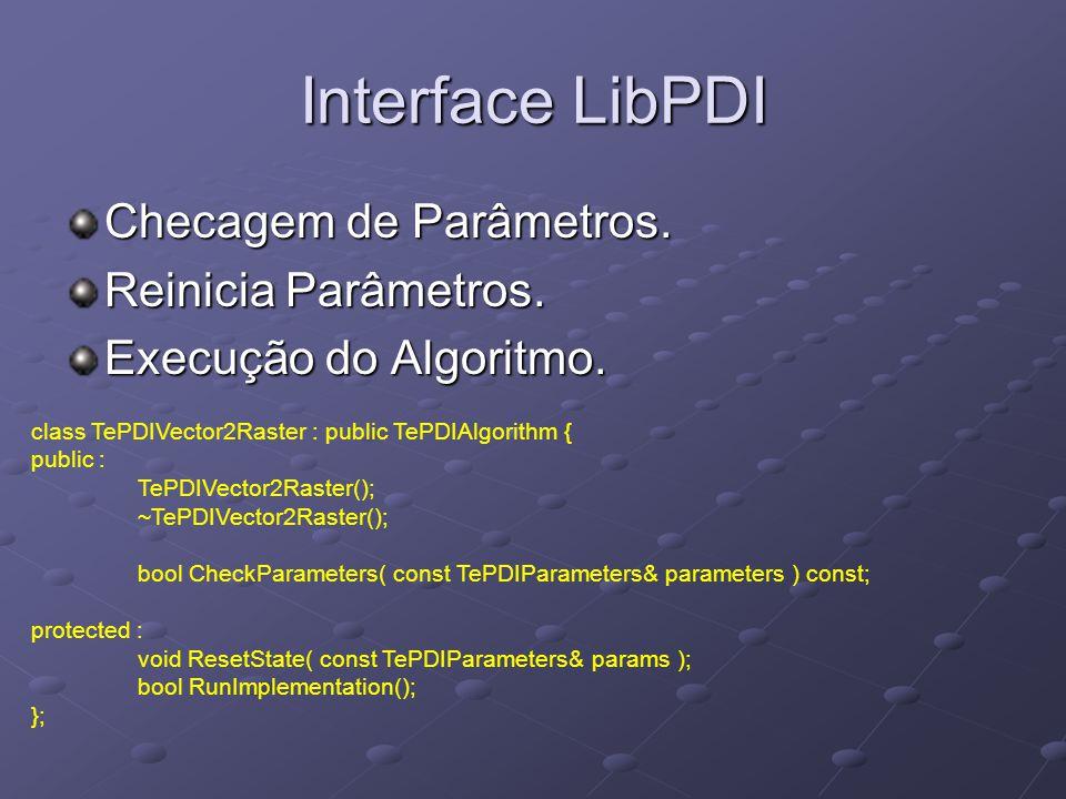 Interface LibPDI Checagem de Parâmetros.Reinicia Parâmetros.