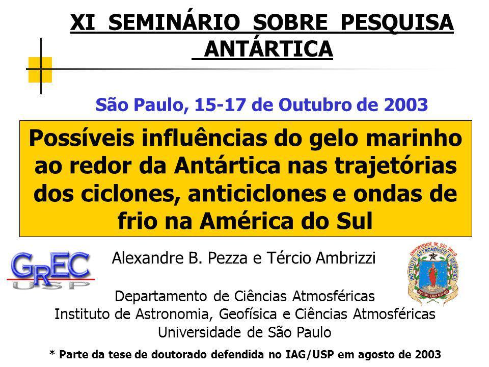 DISPERSÃO ENTRE A CONTAGEM TOTAL DE CICLONES SEM RESTRIÇÃO DE PRESSÃO (HS) E A ÁREA ANUAL MÁXIMA DE GELO MARINHO AO REDOR DA ANTÁRTICA (1979-1996)