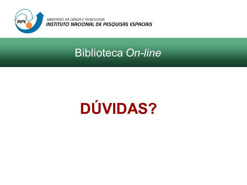 DÚVIDAS Biblioteca On-line