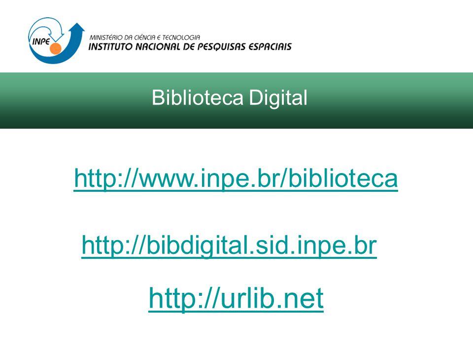 Biblioteca Digital de Teses e Dissertações (BDTD) do Instituto Brasileiro de Informação em Ciência e Tecnologia (IBICT) Catálogo Nacional de Teses e Dissertações em texto integral e referencial Disponível em: http://www.inpe.br/biblioteca http://bibdigital.sid.inpe.br http://urlib.net Biblioteca Digital