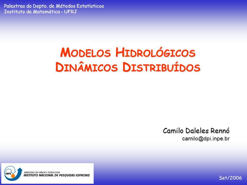 M ODELOS H IDROLÓGICOS D INÂMICOS D ISTRIBUÍDOS Camilo Daleles Rennó camilo@dpi.inpe.br Set/2006 Palestras do Depto.