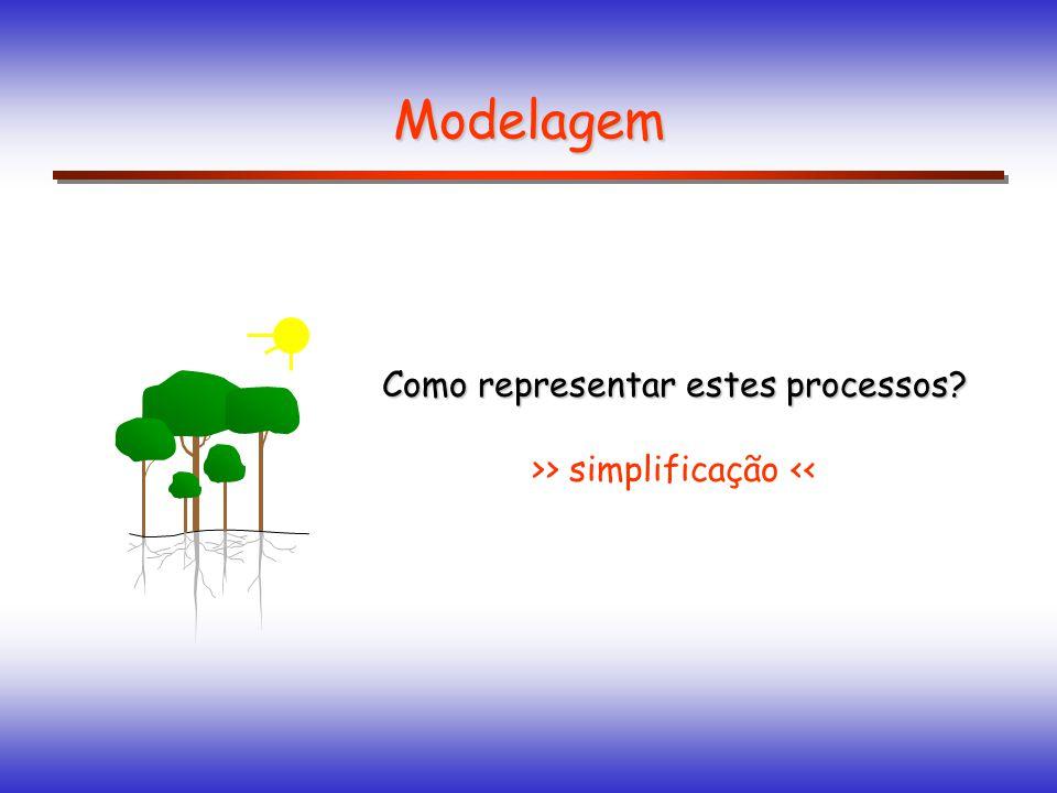 Como representar estes processos? >> simplificação << Modelagem