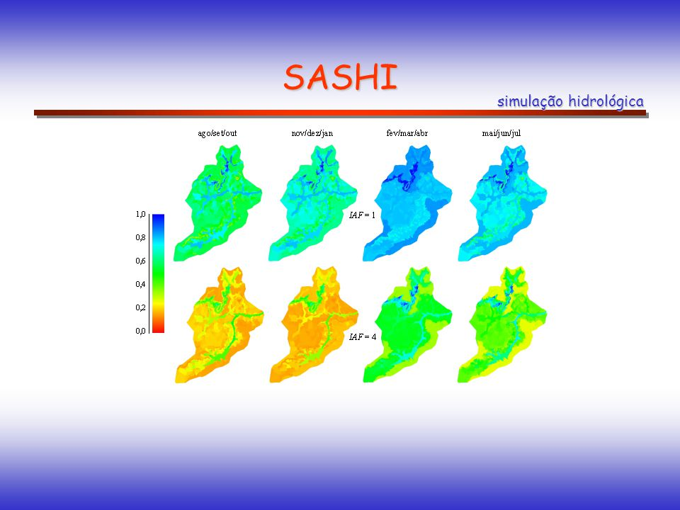 SASHI simulação hidrológica