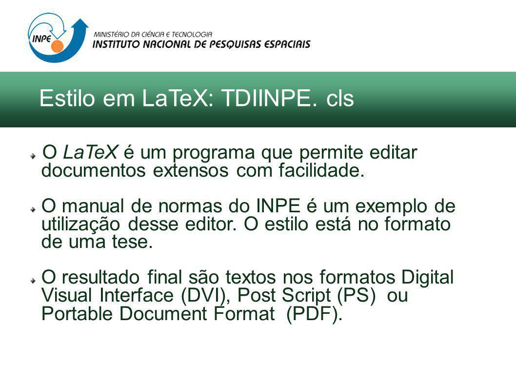 O LaTeX é um programa que permite editar documentos extensos com facilidade.