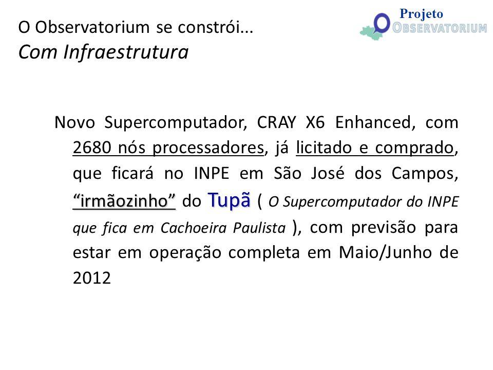 irmãozinho Tupã Novo Supercomputador, CRAY X6 Enhanced, com 2680 nós processadores, já licitado e comprado, que ficará no INPE em São José dos Campos,