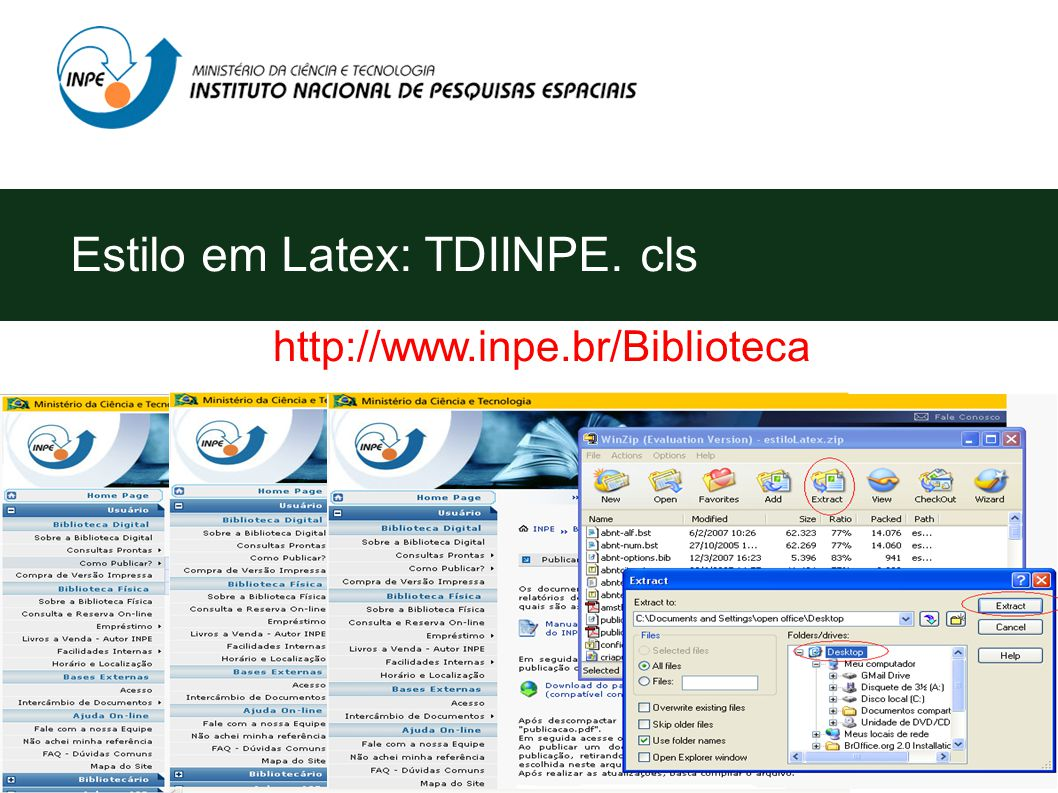 Estilo em Latex: TDIINPE. cls http://www.inpe.br/Biblioteca