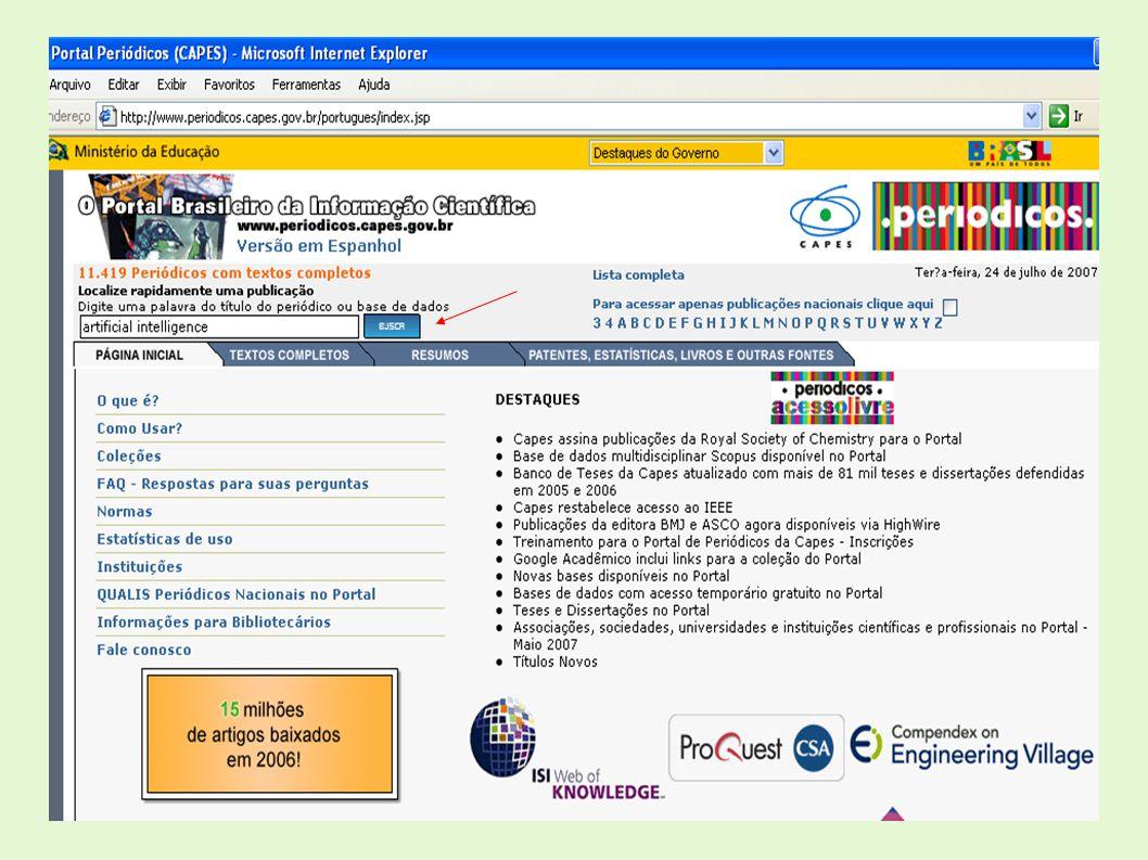 Portal Biblioteca On-line Curso em Editoração Eletrônica por meio de Seminários www.inpe.br/biblioteca