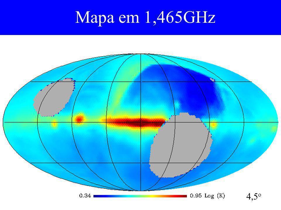 Mapa em 1,465GHz 4,5 o