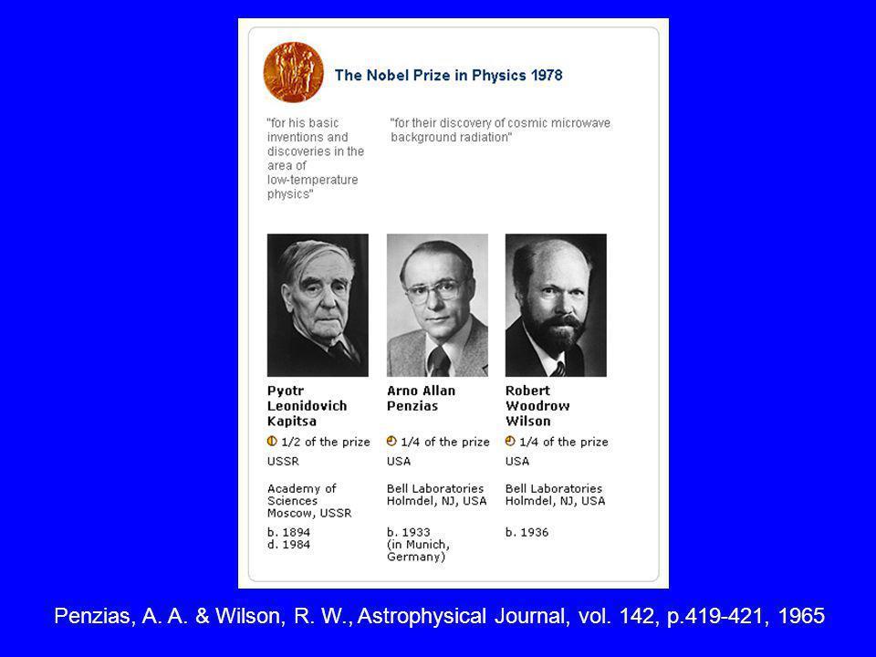 Penzias, A. A. & Wilson, R. W., Astrophysical Journal, vol. 142, p.419-421, 1965