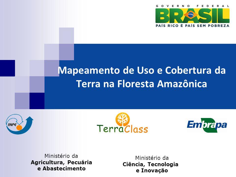 Mapeamento de Uso e Cobertura da Terra na Floresta Amazônica Ministério da Agricultura, Pecuária e Abastecimento Ministério da Ciência, Tecnologia e Inovação