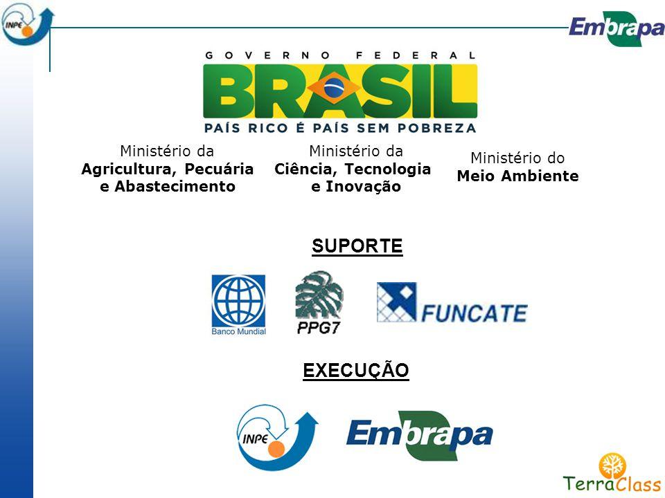 Ministério da Agricultura, Pecuária e Abastecimento Ministério da Ciência, Tecnologia e Inovação Ministério do Meio Ambiente SUPORTE EXECUÇÃO