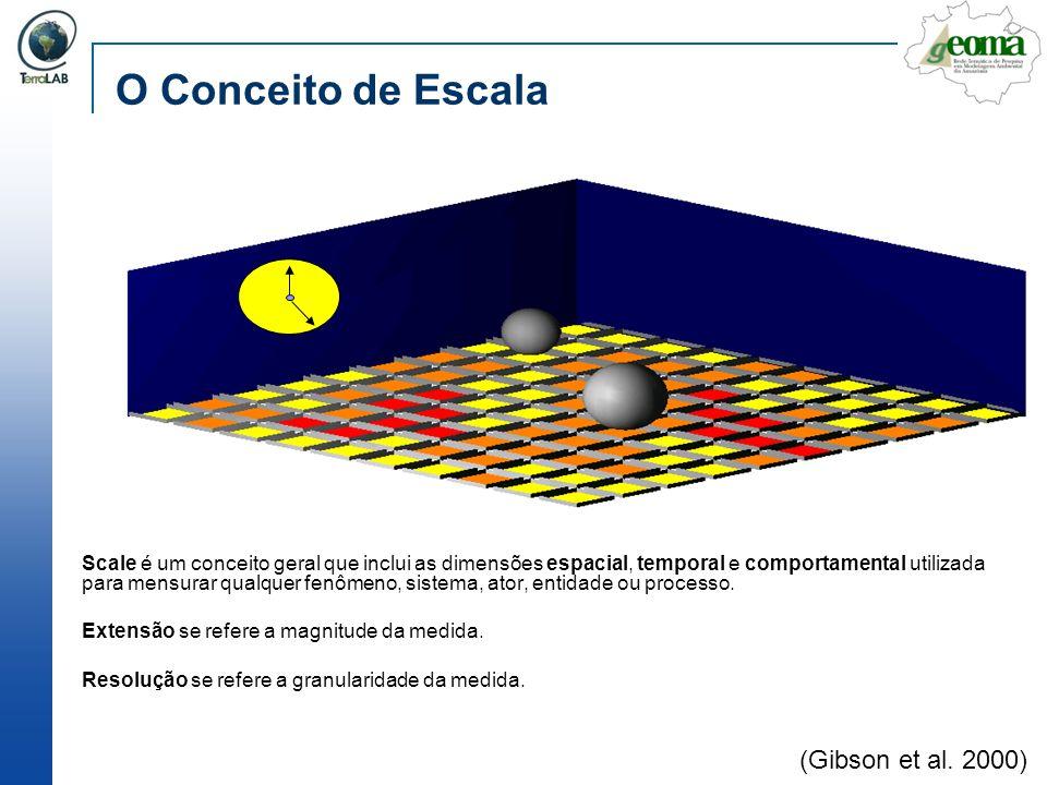 O Conceito de Escala Scale é um conceito geral que inclui as dimensões espacial, temporal e comportamental utilizada para mensurar qualquer fenômeno,