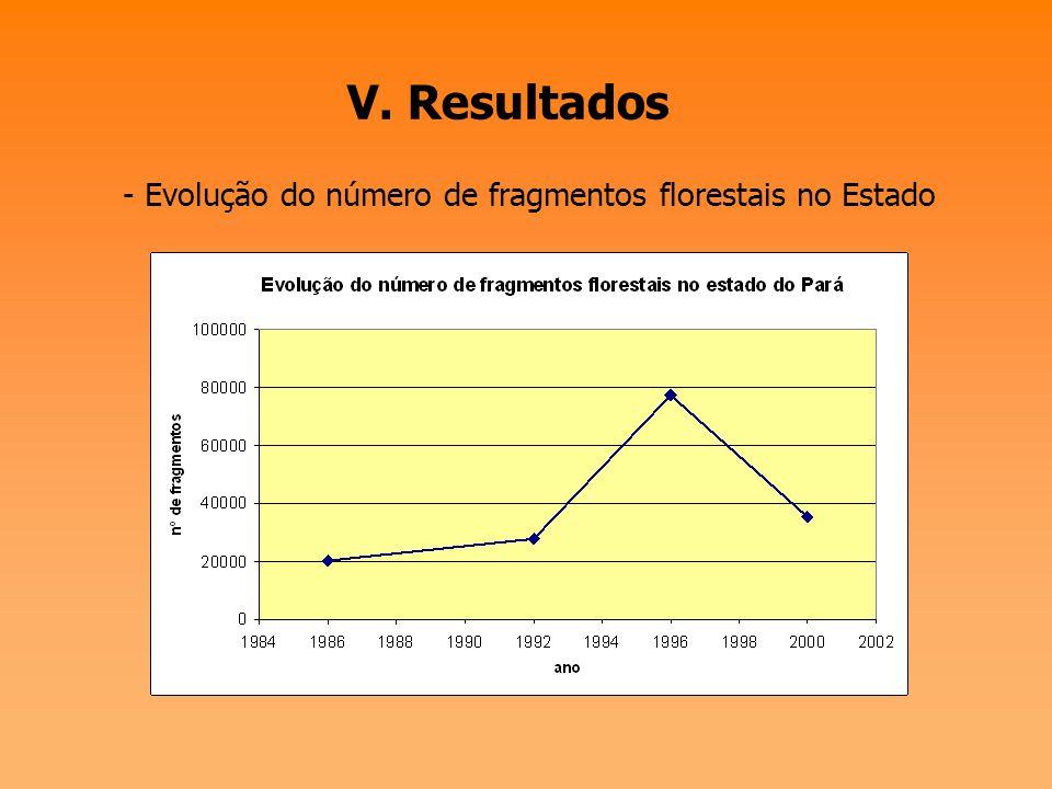 V. Resultados - Taxa de desmatamento anual no Pará