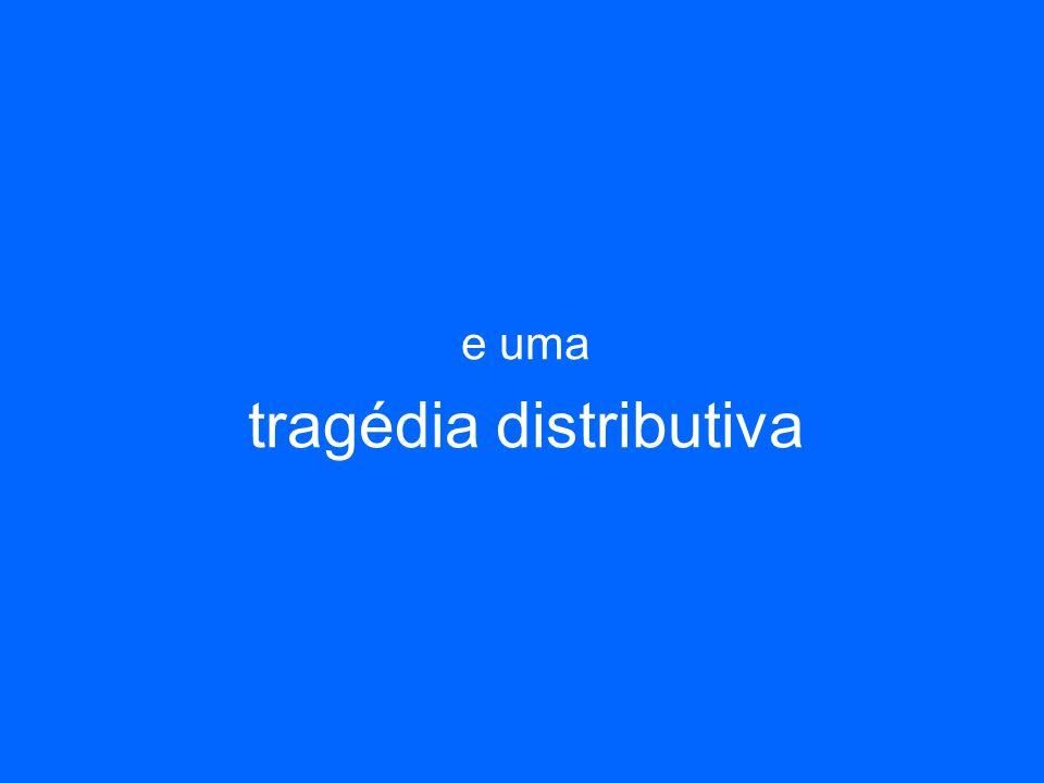 e uma tragédia distributiva