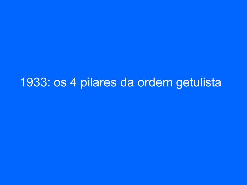 1933: os 4 pilares da ordem getulista