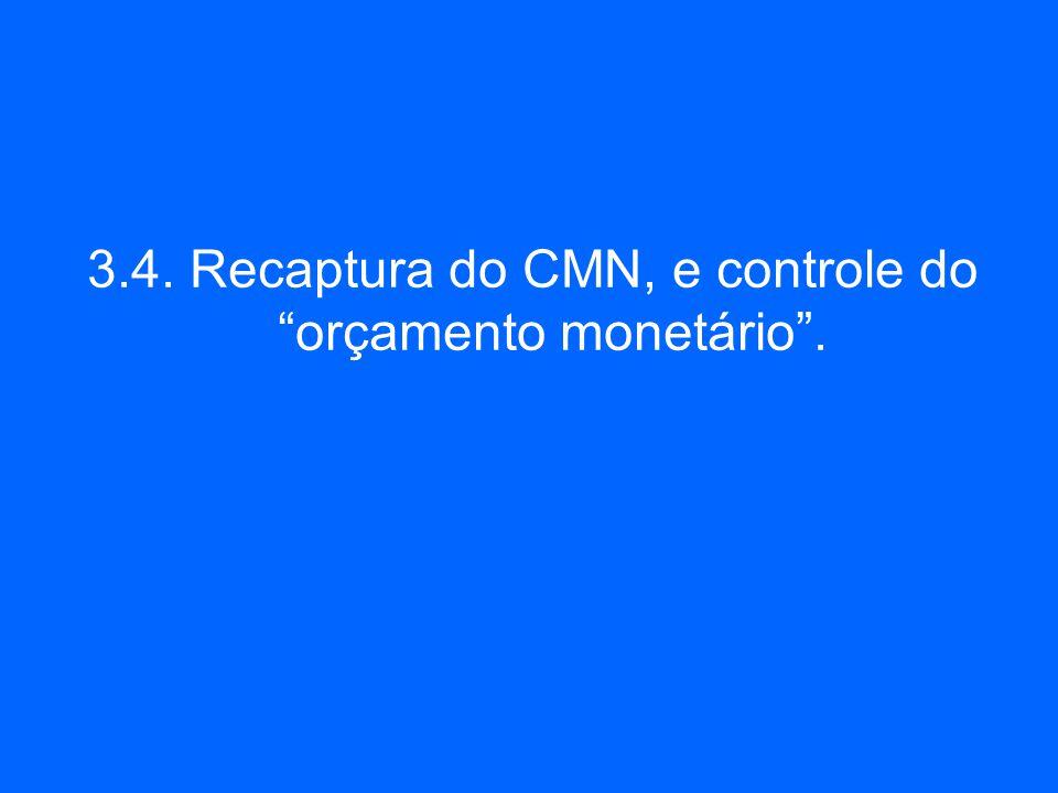 3.4. Recaptura do CMN, e controle do orçamento monetário.