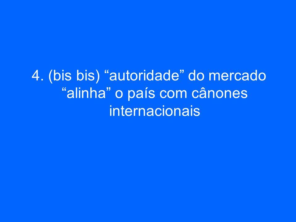 4. (bis bis) autoridade do mercado alinha o país com cânones internacionais
