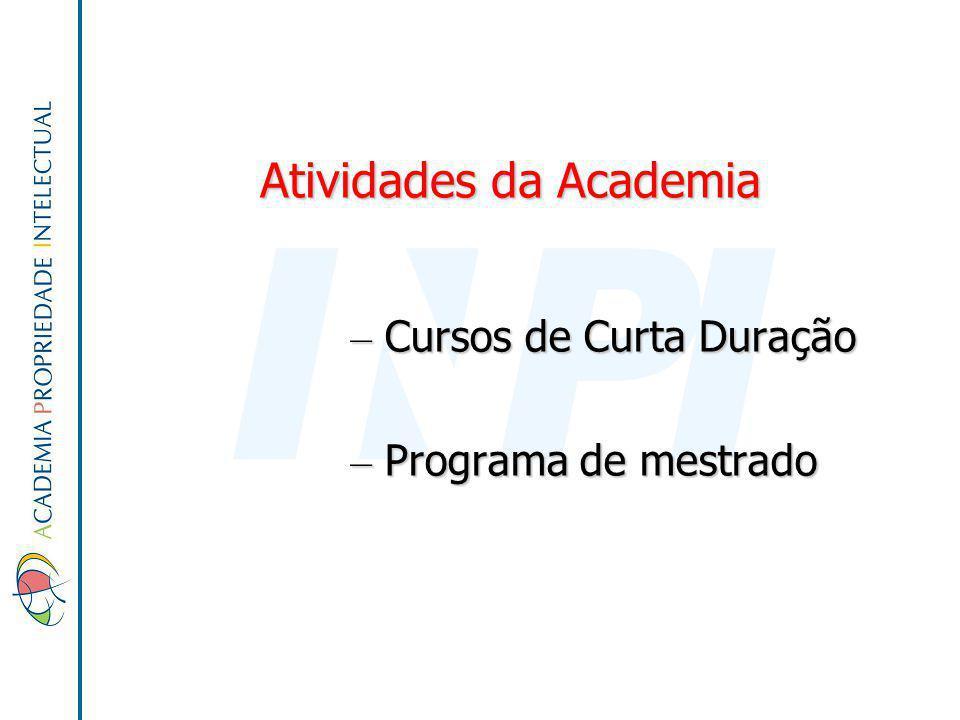 Atividades da Academia – Cursos de Curta Duração – Programa de mestrado