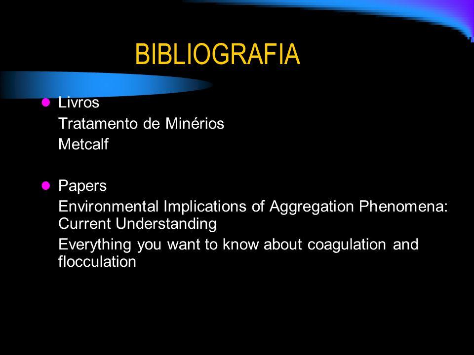 BIBLIOGRAFIA Livros Tratamento de Minérios Metcalf Papers Environmental Implications of Aggregation Phenomena: Current Understanding Everything you wa