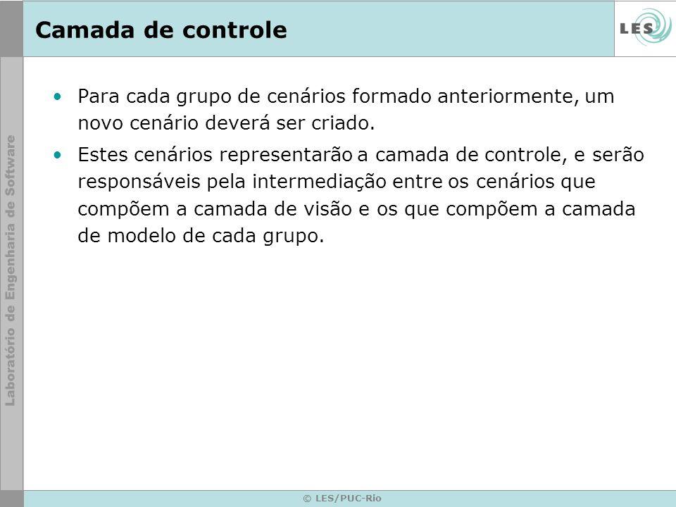 © LES/PUC-Rio Camada de controle Para cada grupo de cenários formado anteriormente, um novo cenário deverá ser criado.