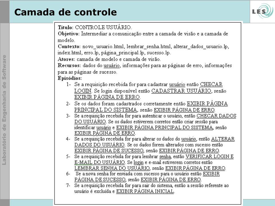 © LES/PUC-Rio Camada de controle