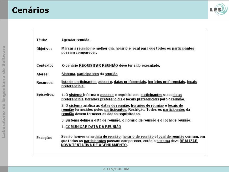 © LES/PUC-Rio Operacionalização da camada controle Cada cenário da camada de controle dará origem a um novo arquivo.