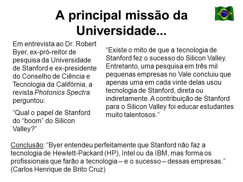 A principal missão da Universidade... Em entrevista ao Dr.