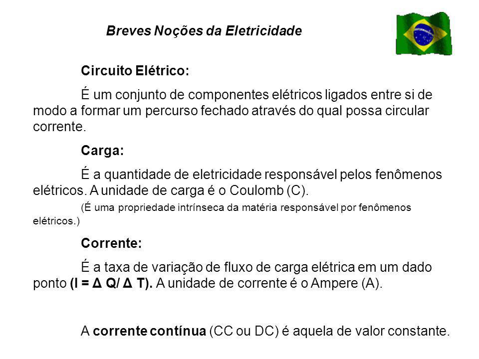 Circuito Elétrico: É um conjunto de componentes elétricos ligados entre si de modo a formar um percurso fechado através do qual possa circular corrente.