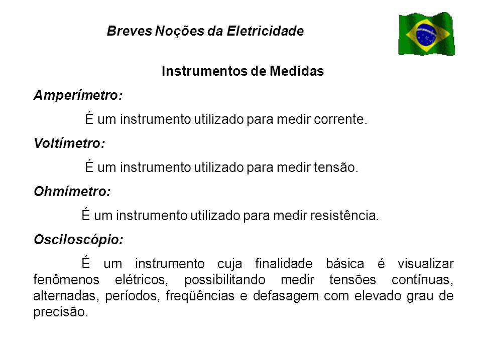 Instrumentos de Medidas Amperímetro: É um instrumento utilizado para medir corrente.