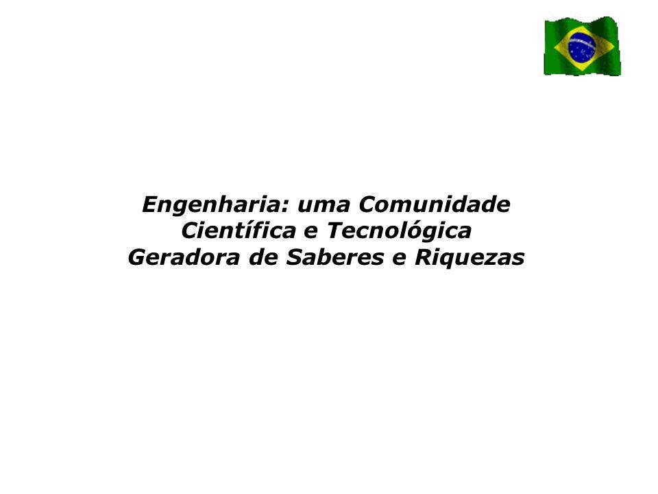 Engenharia: uma Comunidade Científica e Tecnológica Geradora de Saberes e Riquezas