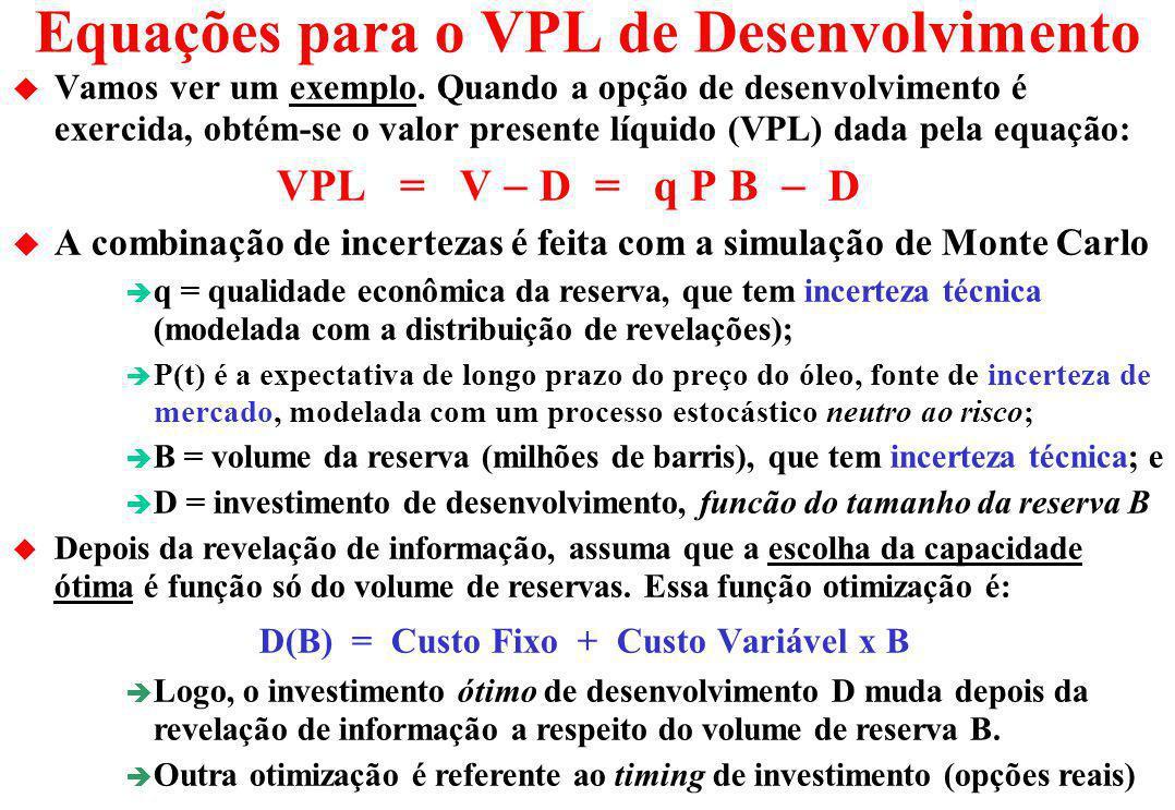 Valor Dinâmico da Informação u Valor da informação tem sido estudado pela teoria de análise de decisão. A extensão aqui apresentada usando opções reai