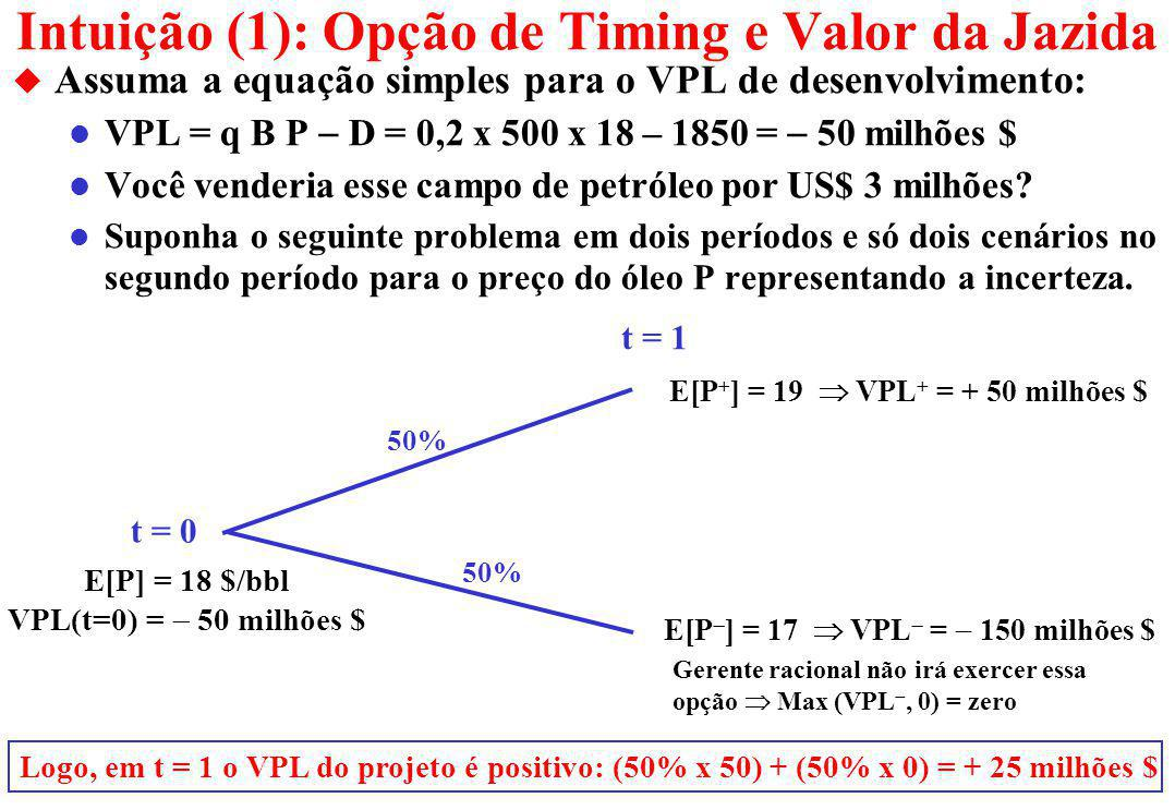 Selection of Alternatives under Uncertainty u In the equation for the developed reserve value V = q P B, the economic quality of reserve (q) gives also an idea of how fast the reserve volume will produce.