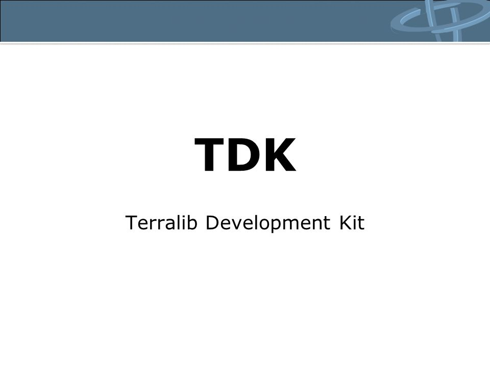 TDK Terralib Development Kit