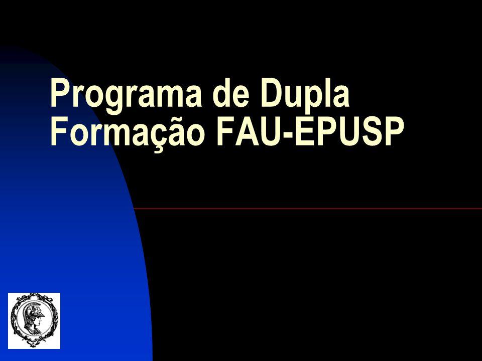 Programa de Dupla Formação FAU-EPUSP