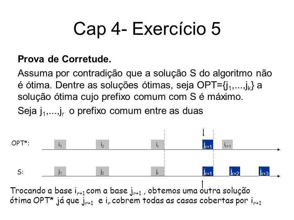 Cap 4 -Exercício 12 a) Falso J(1)=(1,1000), J(2)=(1000,1),r= 1 Para o segundo job não vale, mas escalonando J(1) depois J(2) a restrição é satisfeita.