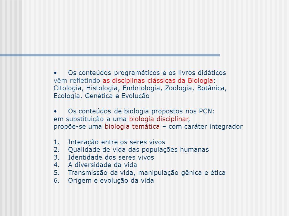 FINALIDADES DO NOVO ENSINO DE BIOLOGIA: 1.