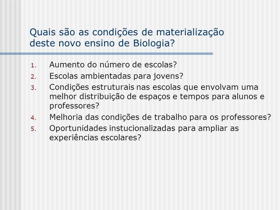 Métodos de ensino de Biologia propostos pelos PCN 1.