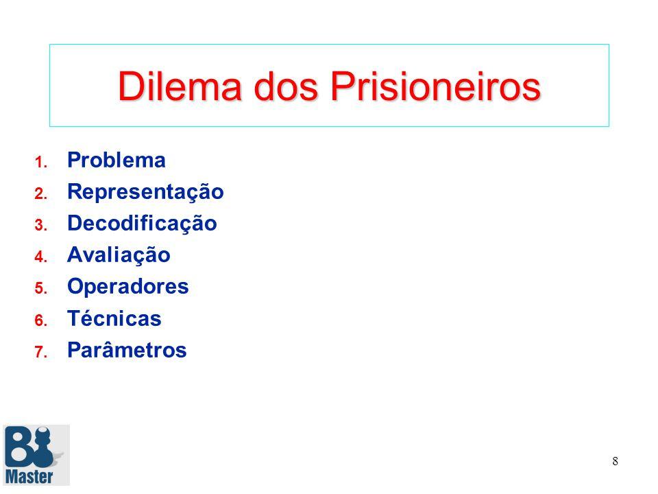 8 Dilema dos Prisioneiros 1.Problema 2. Representação 3.