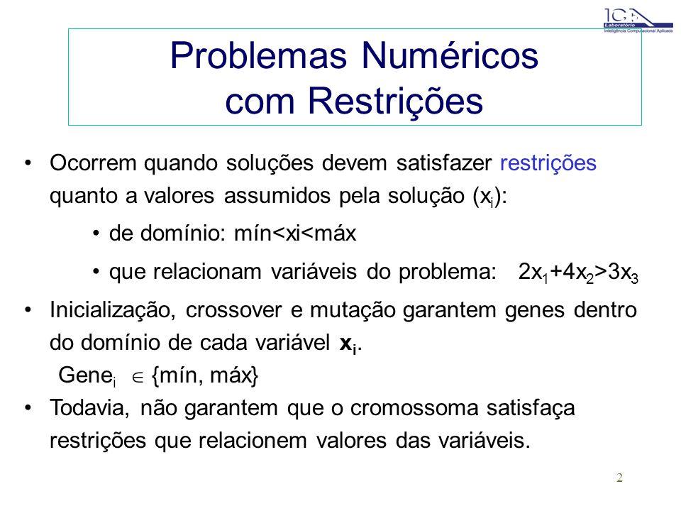 1 Algoritmos Genéticos em Problemas com Restrições