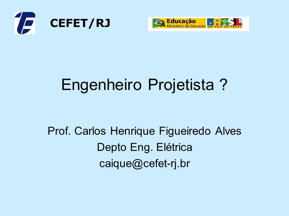 Engenheiro Projetista .Prof. Carlos Henrique Figueiredo Alves Depto Eng.