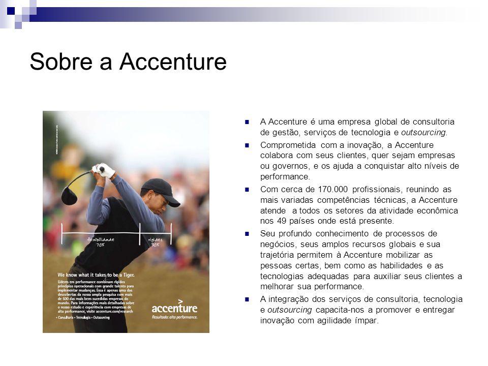 Sobre a Accenture A Accenture é uma empresa global de consultoria de gestão, serviços de tecnologia e outsourcing.