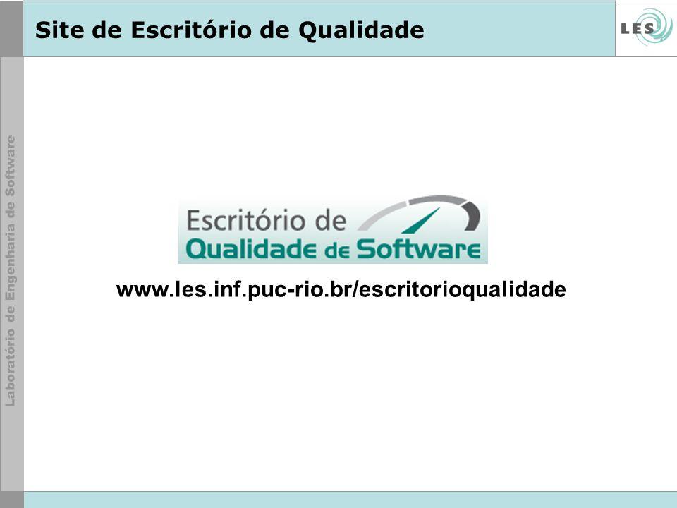 Site de Escritório de Qualidade www.les.inf.puc-rio.br/escritorioqualidade