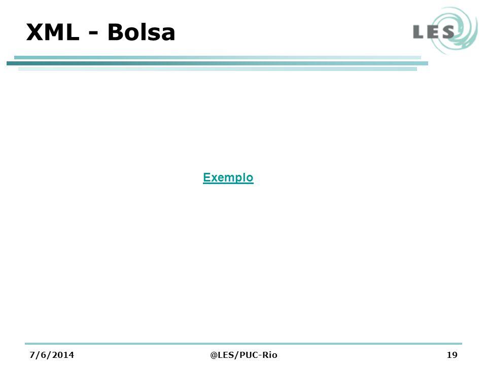 XML - Bolsa 7/6/2014@LES/PUC-Rio19 Exemplo