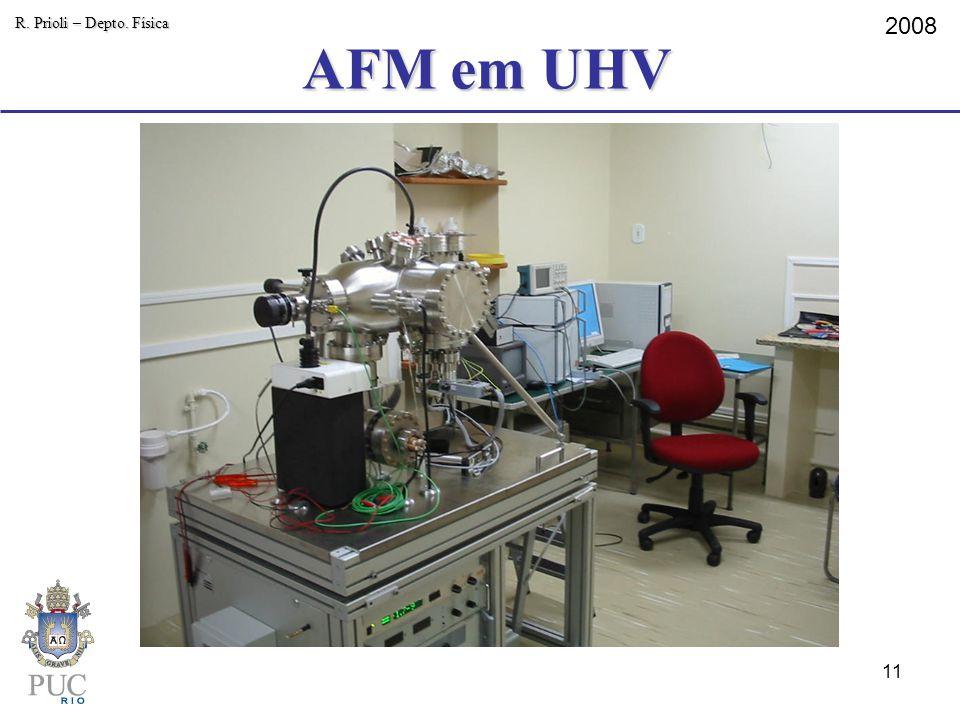 AFM em UHV R. Prioli – Depto. Física 2008 11