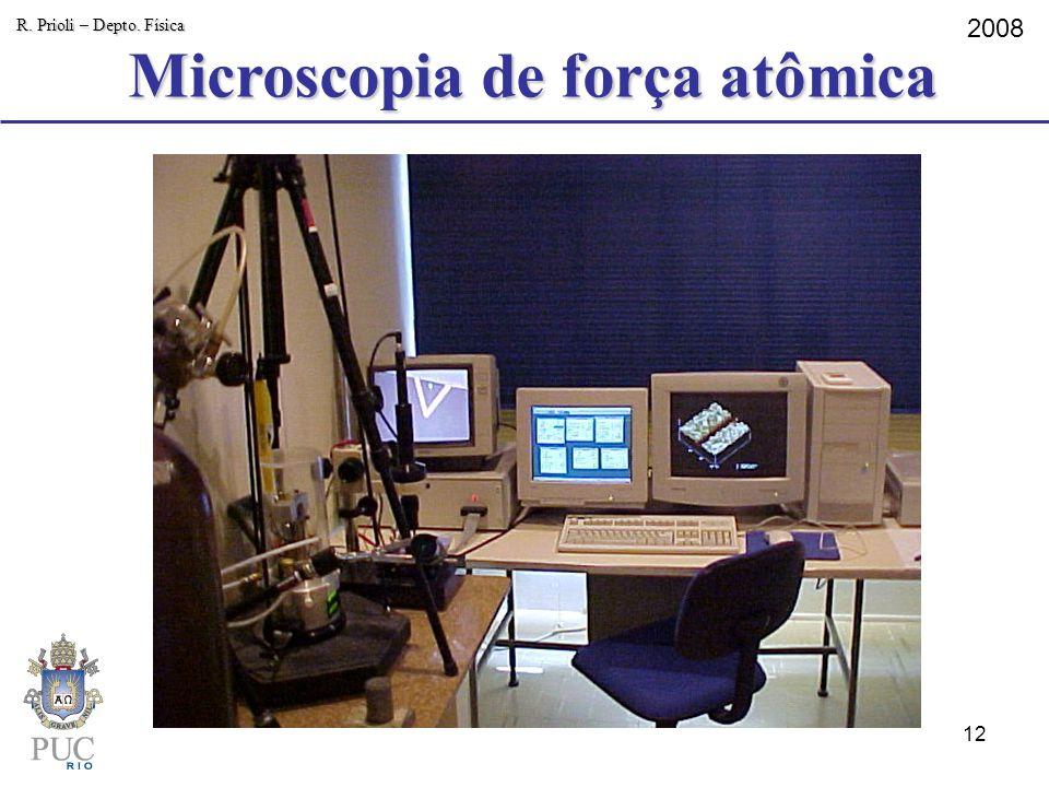 Microscopia de força atômica R. Prioli – Depto. Física 2008 12